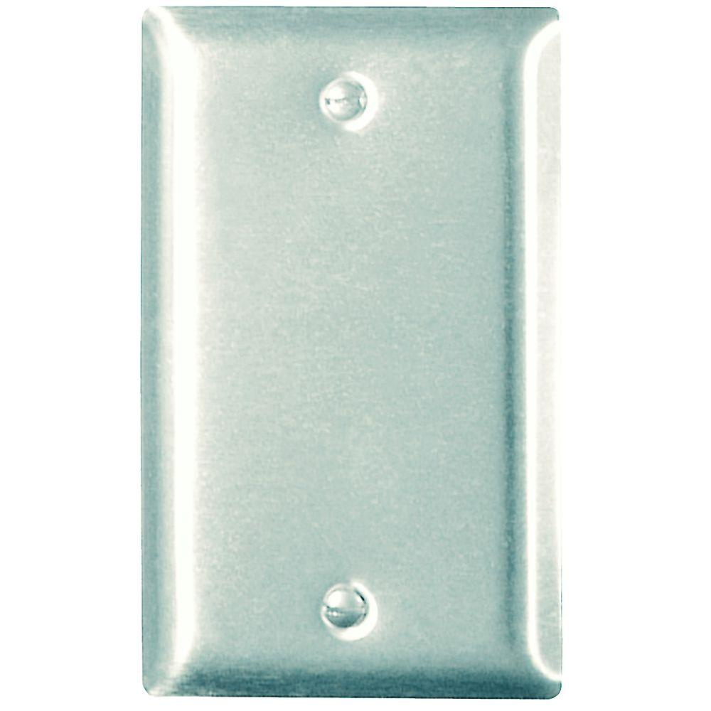 Legrand 1-Gang Blank Wall Plate - Stainless Steel