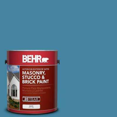 1 gal. #S490-5 Jay Bird Satin Interior/Exterior Masonry, Stucco and Brick Paint