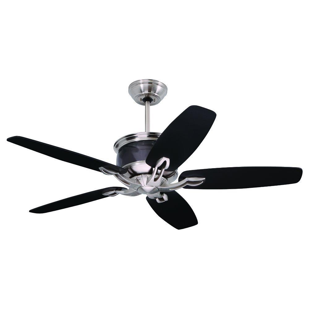 Illumine Zephyr 48 in. Brushed Steel Indoor Ceiling Fan
