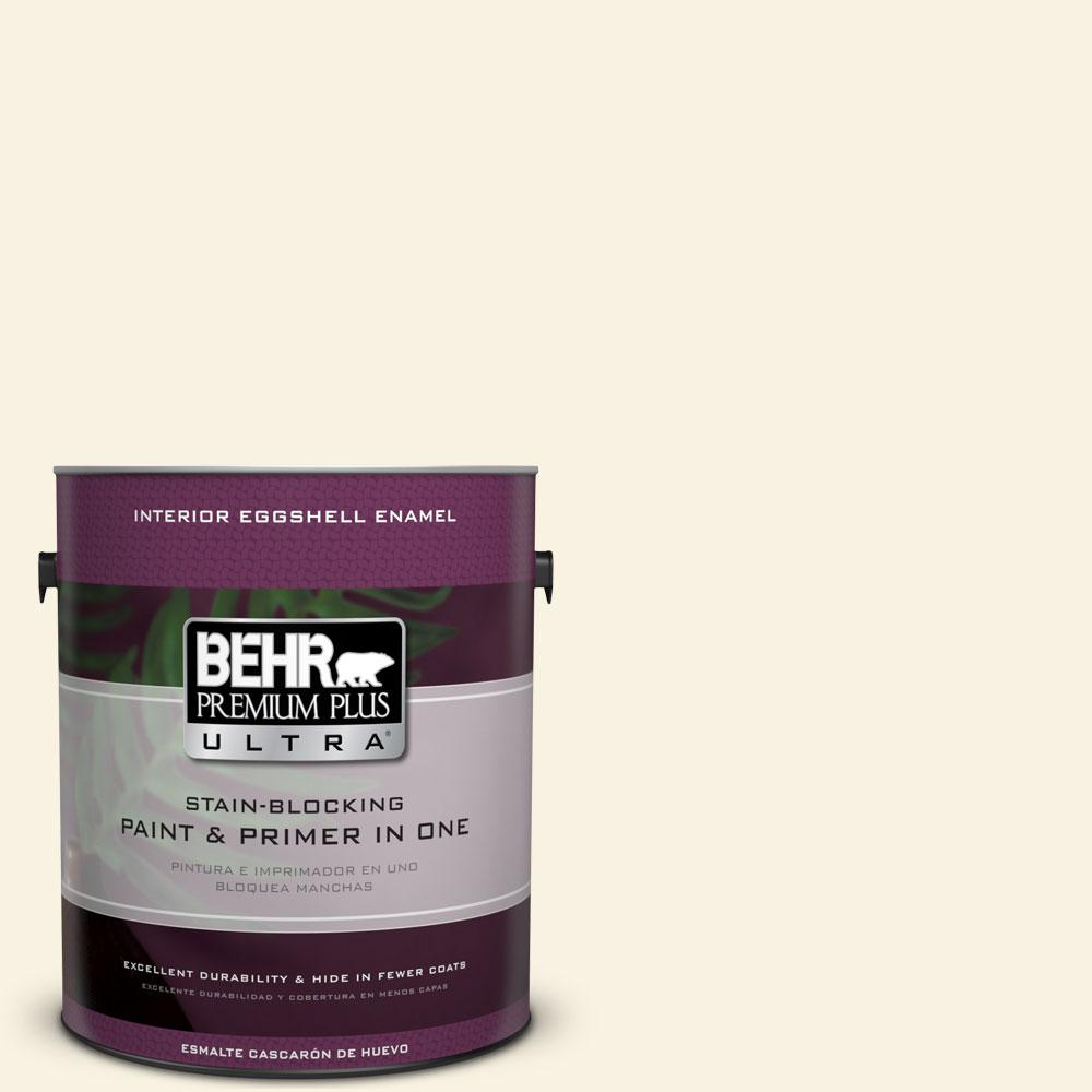 1 gal. #BWC-03 Lively White Eggshell Enamel Interior Paint and Primer