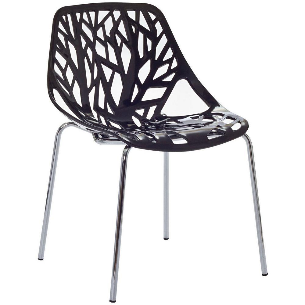 MODWAY Black Stencil Dining Side Chair EEI-651-BLK