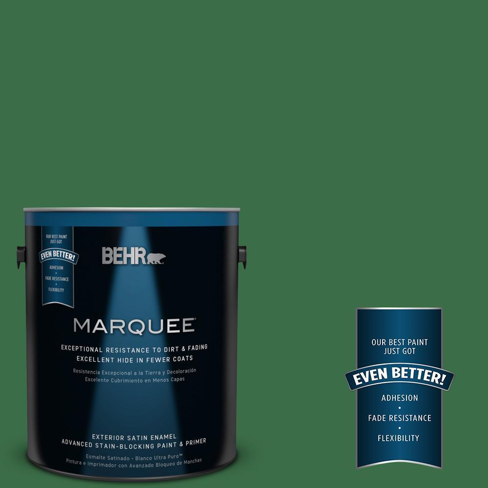 BEHR MARQUEE 1-gal. #S-H-450 Parsley Sprig Satin Enamel Exterior Paint