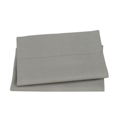 Organic Taupe Solid 200-Thread Count Cotton Percale King Pillowcase (Set of 2)