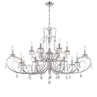 Kothari 18-Light Chrome Chandelier