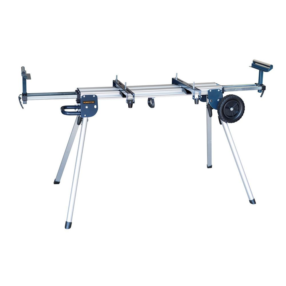 Powertec Aluminum Miter Saw Stand With Wheels Mt4004 The