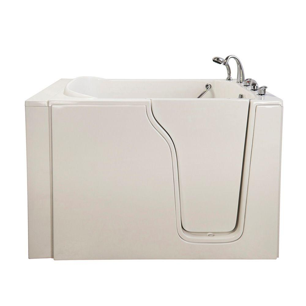 Ella Bariatric 33 4.58 ft. x 33 in. Walk-In Air Bath Tub in White with Right Drain/Door