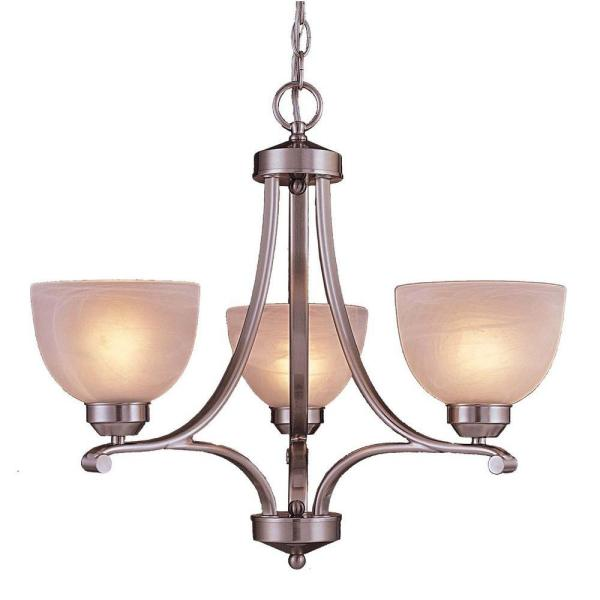 Paradox 3-Light Brushed Nickel Mini Chandelier