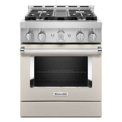 30 in. 4.1 cu. ft. Smart Commercial-Style Gas Range with Self-Cleaning and True Convection in Milkshake