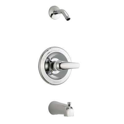 1-Handle Wall-Mount Tub and Shower Faucet Trim Kit in Chrome (Valve and Showerhead Not Included)
