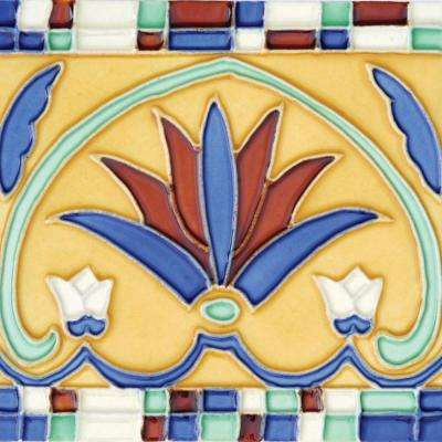 Hand-Painted Corona Deco 6 in. x 6 in. Ceramic Wall Tile (2.5 sq. ft. / Case)