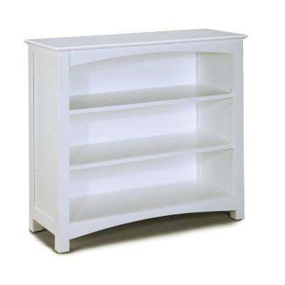 Wakefield 34 in. High White Bookcase