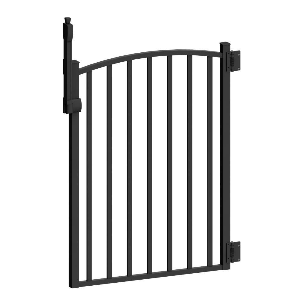 Aquatine 3 ft. x 4 ft. Black Aluminum Fence Pool Gate
