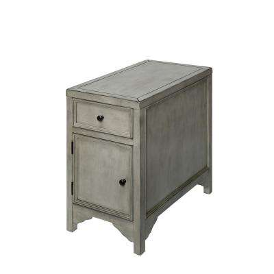 Harrison Antique White 1-Drawer Side Table