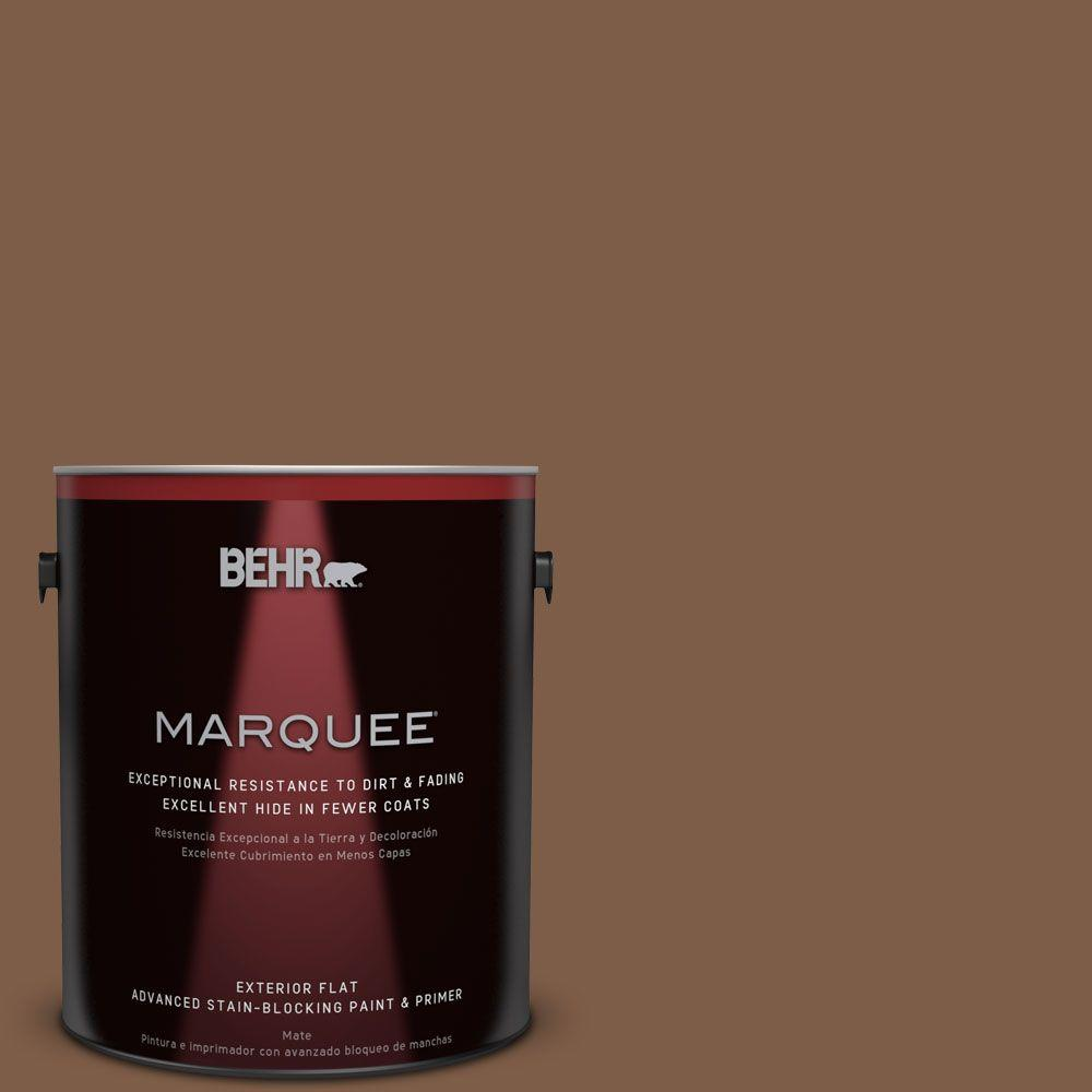 1-gal. #BXC-65 Outback Brown Flat Exterior Paint