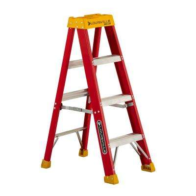 4 ft. Fiberglass Step Ladder with 300 lbs. Load Capacity Type IA Duty Rating