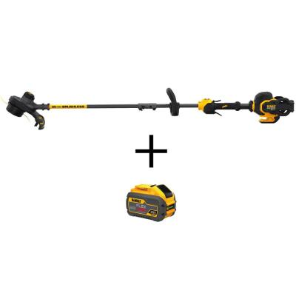 15 in. 60V MAX Cordless FLEXVOLT Brushless String Grass Trimmer (Tool Only) with Bonus FLEXVOLT (1) 3.0Ah Battery