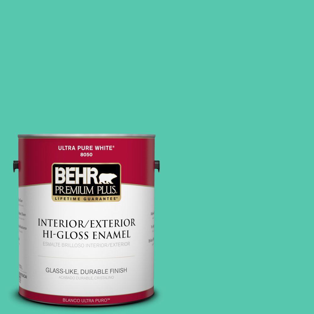 1-gal. #480B-4 Shoreline Green Hi-Gloss Enamel Interior/Exterior Paint