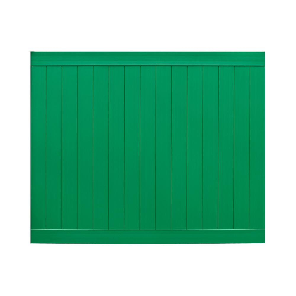 Veranda Pro Series 6 ft. H x 8 ft. W Green Vinyl Anaheim Privacy Fence Panel - Unassembled