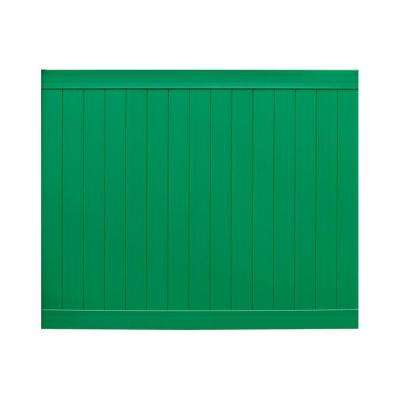 Pro Series 6 ft. H x 8 ft. W Green Vinyl Anaheim Privacy Fence Panel - Unassembled