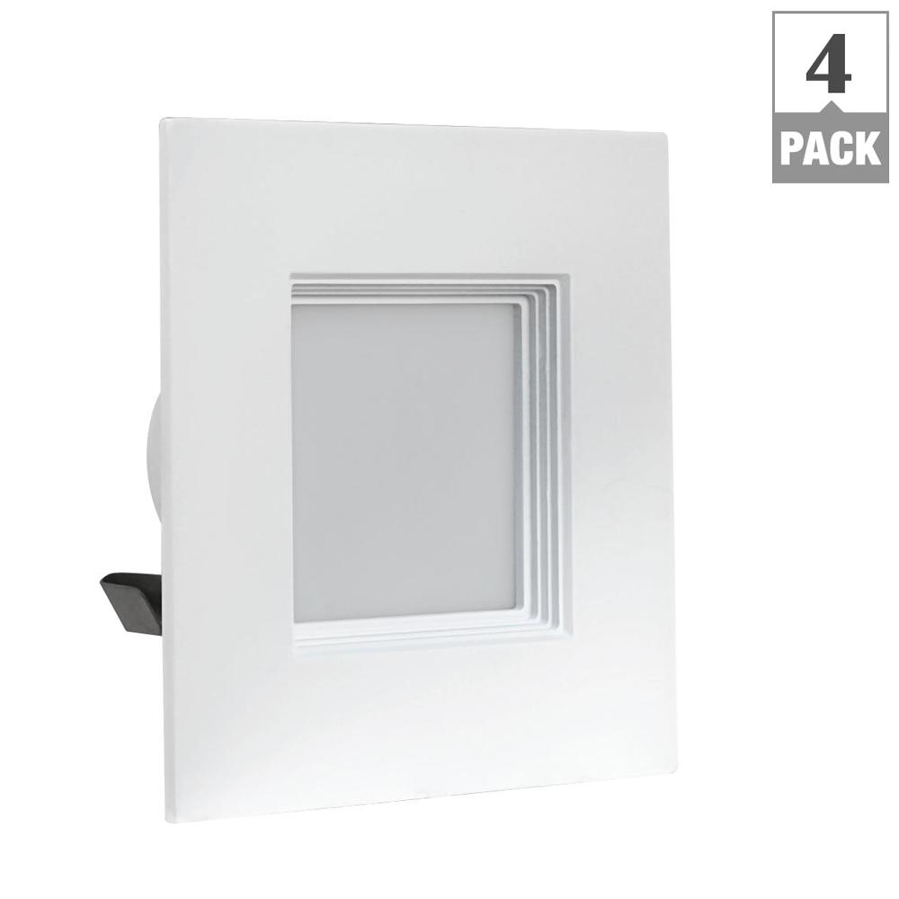 Lithonia Lighting 4 In Brushed Nickel Recessed Gimbal Led