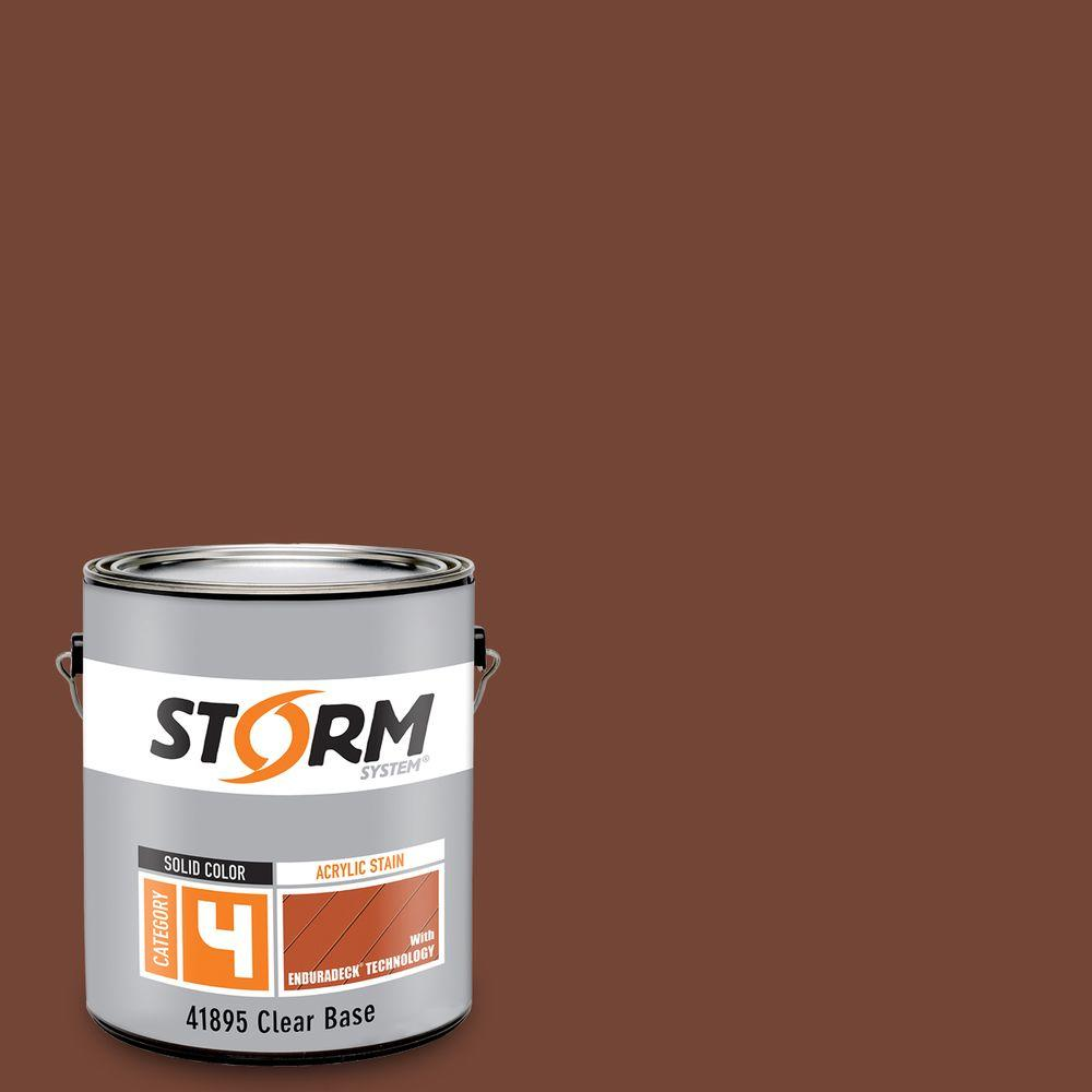 Storm System Category 4 1 gal. Melted Chocolate Exterior Wood Siding, Fencing and Decking Latex Stain with Enduradeck Technology