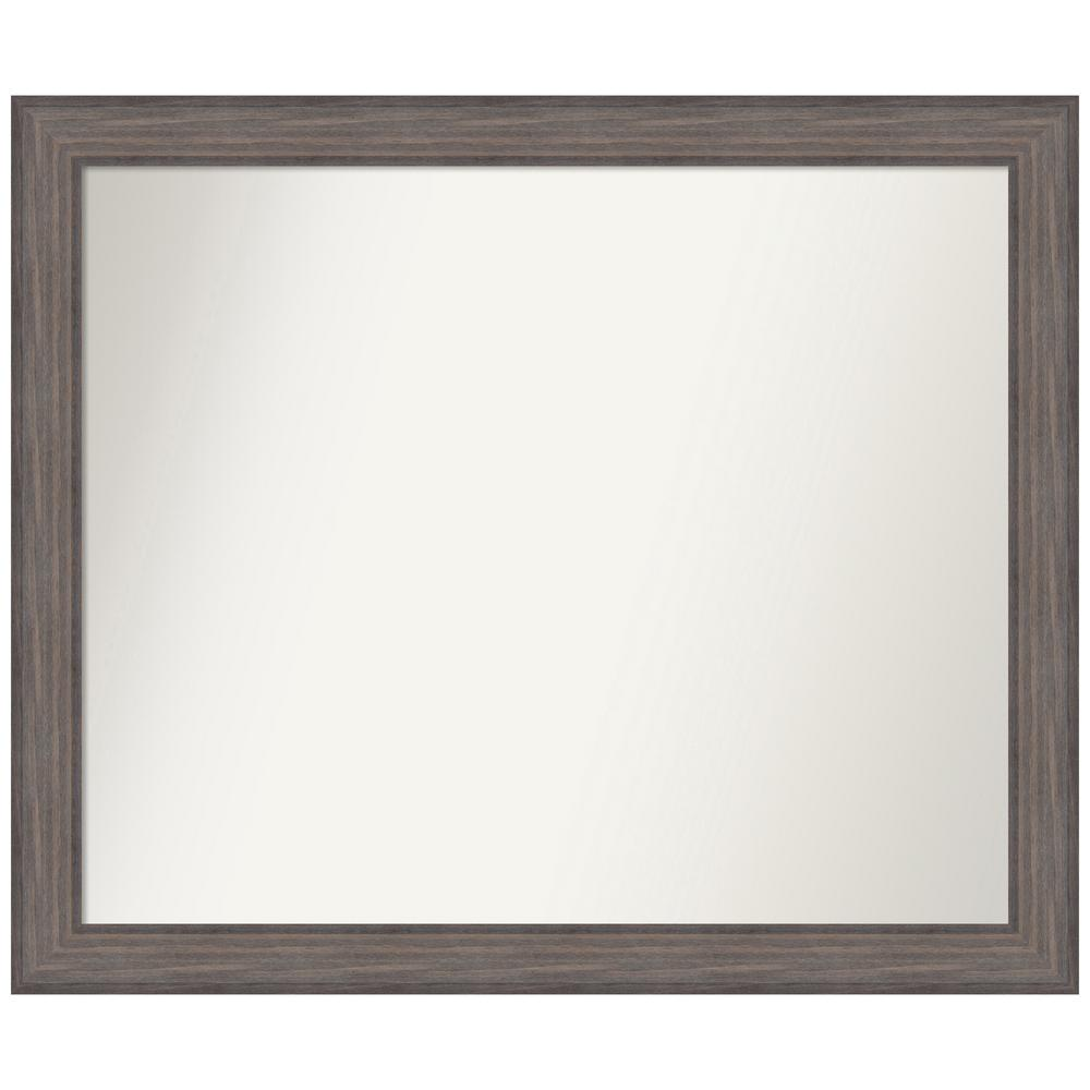 Amanti Art Choose Your Custom Size 44.25 in. x 37.25 in. Country Barnwood Decorative Wall Mirror was $579.95 now $289.97 (50.0% off)