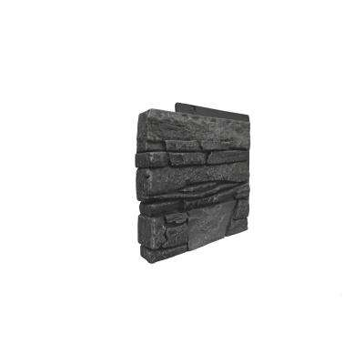 Stacked Stone Iron Ore 12 in. x 1.375 in. x 12 in. Faux Stone Siding Left Corner Panel