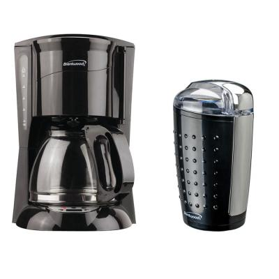 12-Cup Black Coffee Maker with 4 oz. Coffee and Spice Grinder