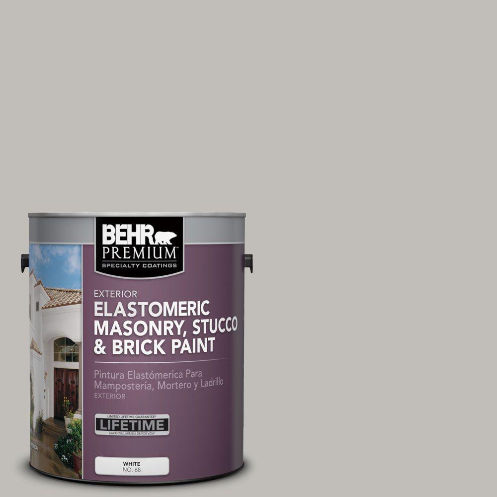 1 gal. #MS-80 Granite Elastomeric Masonry, Stucco and Brick Exterior Paint