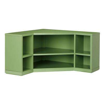 13 In. H X 32 In. W 6 Corner Cubbies In Rhododendron Leaf