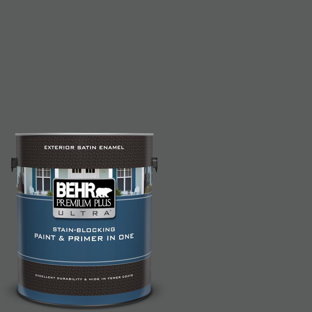 Behr premium plus ultra 1 gal n520 6 asphalt gray satin - Exterior paint and primer in one reviews ...