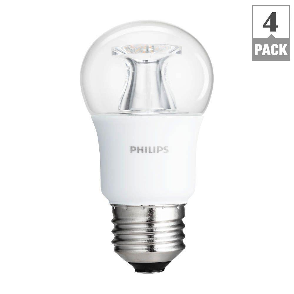 Bulbrite 40w Equivalent Warm White Light B11 Dimmable Led: Philips 40W Equivalent Soft White Clear Multipurpose A15