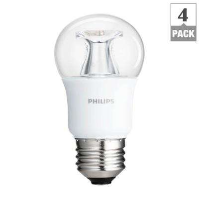 40W Equivalent Soft White Clear Multipurpose A15 Dimmable LED with Warm Glow Light Effect Light Bulb (4-Pack)