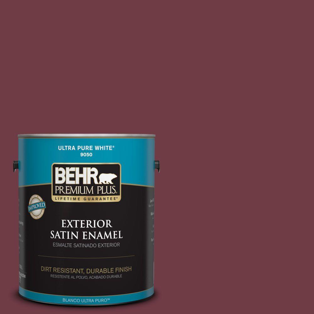 1-gal. #BXC-90 Wild Cranberry Satin Enamel Exterior Paint