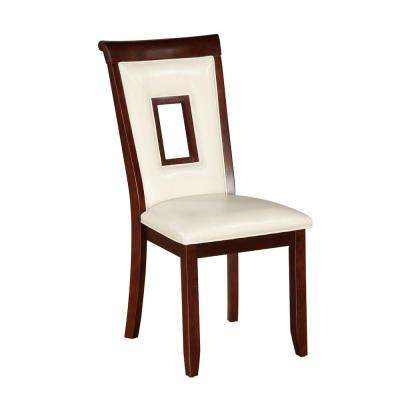 Oswell White PU Dining Chair (Set of 2)