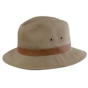 1bee15bbddac5 DPC Washed Twill Safari with Leather-863L-BARK2 - The Home Depot