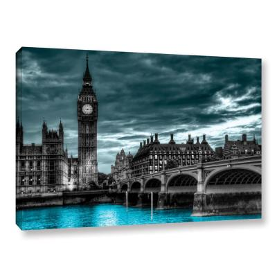 """London"" by Revolver Ocelot Unframed Canvas Wall Art"