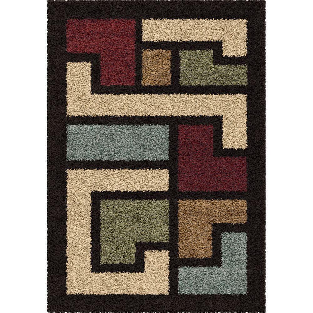 Mapped Floor Multi 5 ft. 3 in. x 7 ft. 6 in. Indoor Area Rug