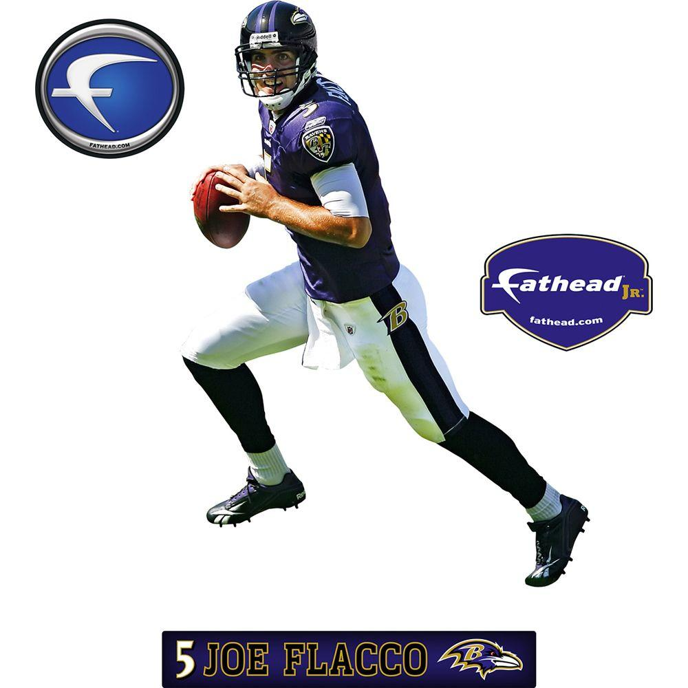 Fathead 23 in. x 32 in. Joe Flacco Baltimore Ravens Wall Decal