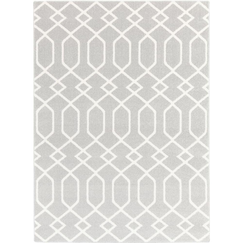Hallekis Gray 8 ft. x 10 ft. Indoor Area Rug