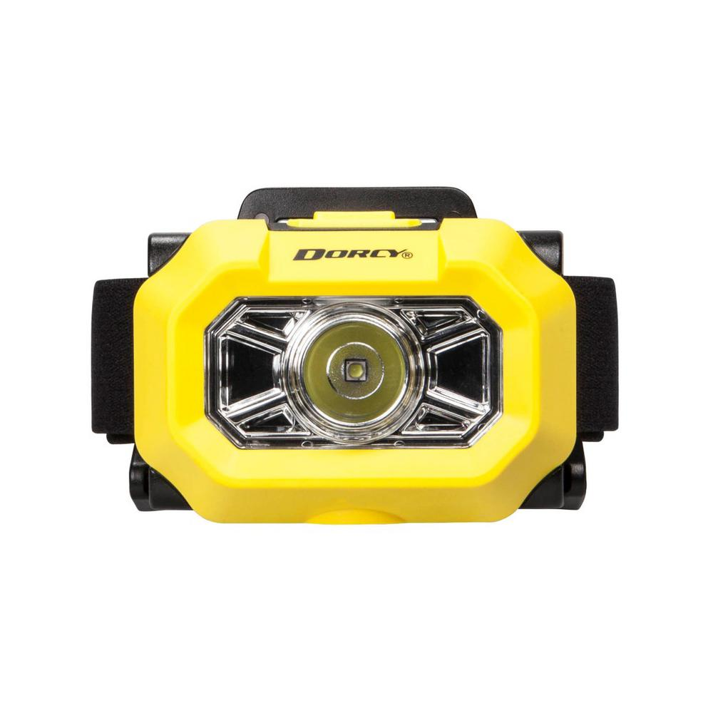 Dorcy Intrinsically Safe Battery Powered 180 Lumens Durable Water-Resistant Headlight in Yellow