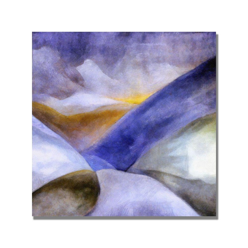 18 in. x 18 in. Mountain Landscape Canvas Art