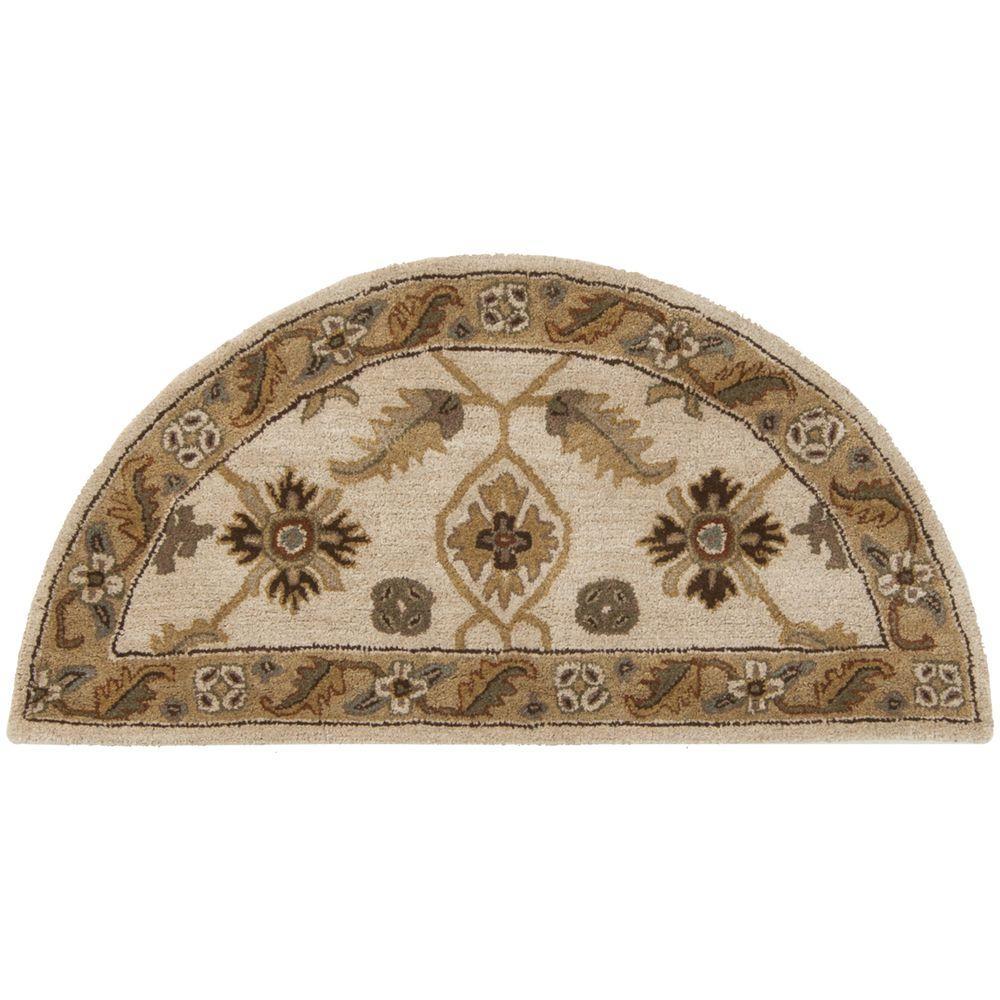 Hearth Rugs: Artistic Weavers Epictus Beige 2 Ft. X 4 Ft. Hearth Indoor