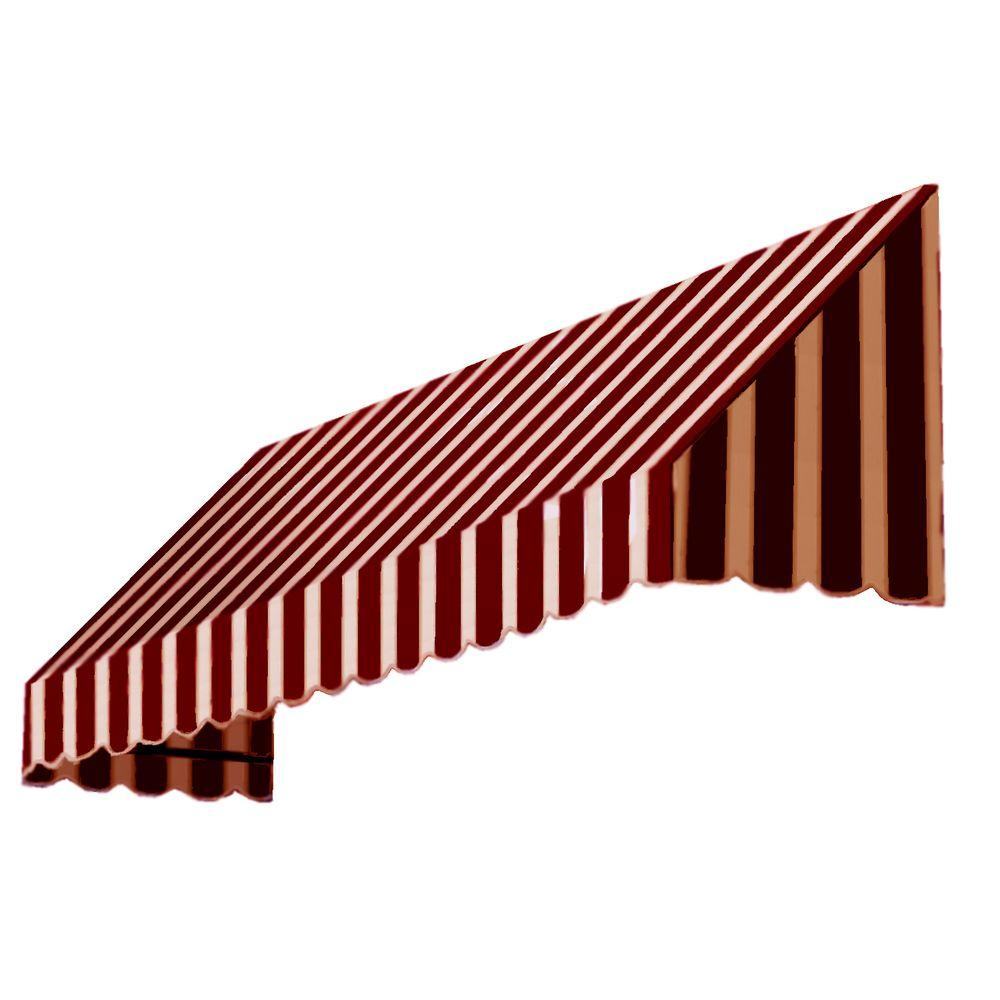 AWNTECH 3 ft. San Francisco Window/Entry Awning (44 in. H x 36 in. D) in Burgundy/Tan Stripe