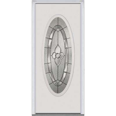 32x80 exterior door. 32 in  x 80 Master Nouveau Right Hand Large Oval Lite Classic Doors With Glass Steel The Home Depot