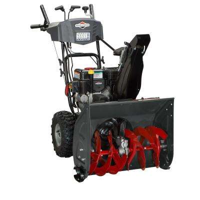 24 in. 208cc Dual-Stage Electric Start Gas Snowthrower