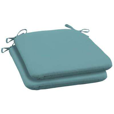 Surf Canvas Texture Square Outdoor Seat Cushion (2-Pack)