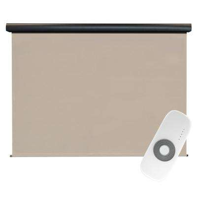 Coronado Elite PVC Fabric Outdoor Roller Shade Rechargeable DC Motor Operated - 120 in. W x 96 in. L