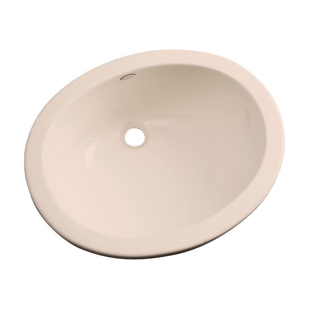 Thermocast Montera Undermount Bathroom Sink in Peach Bisque
