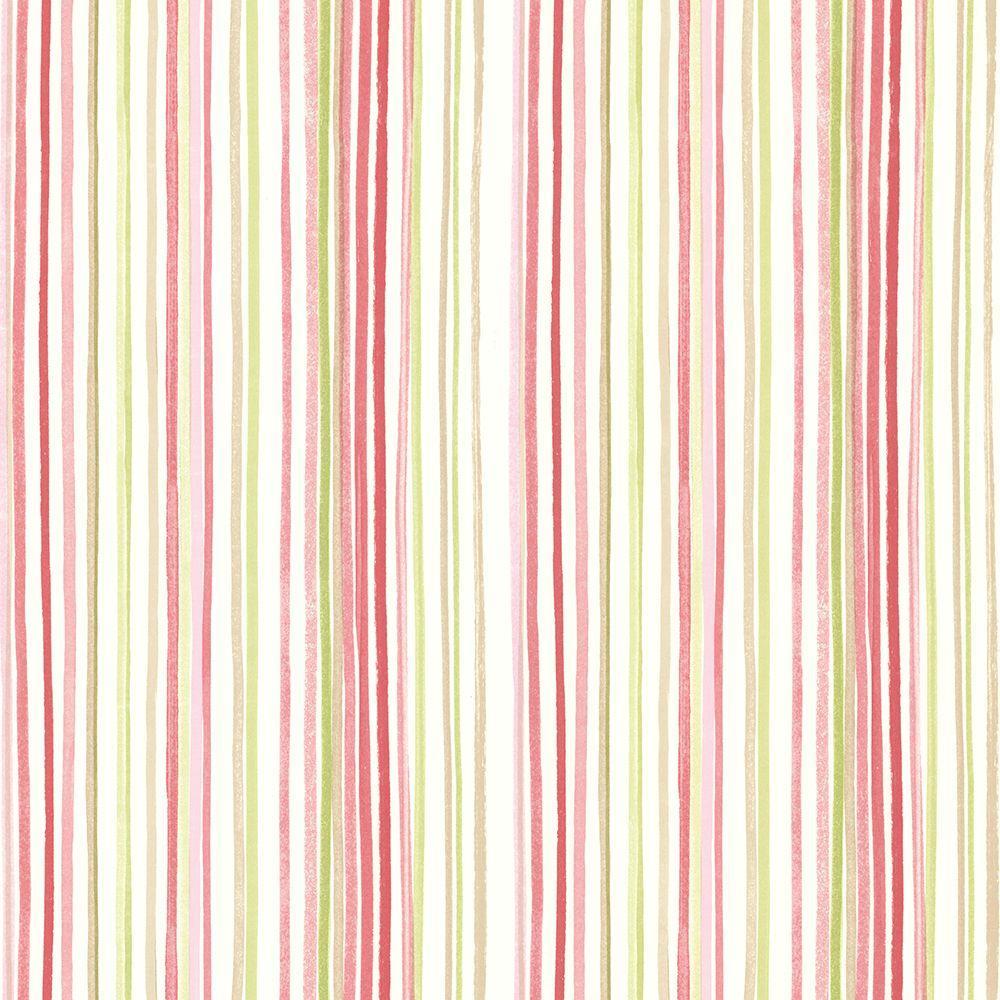 Lanata Pink Stripe Wallpaper